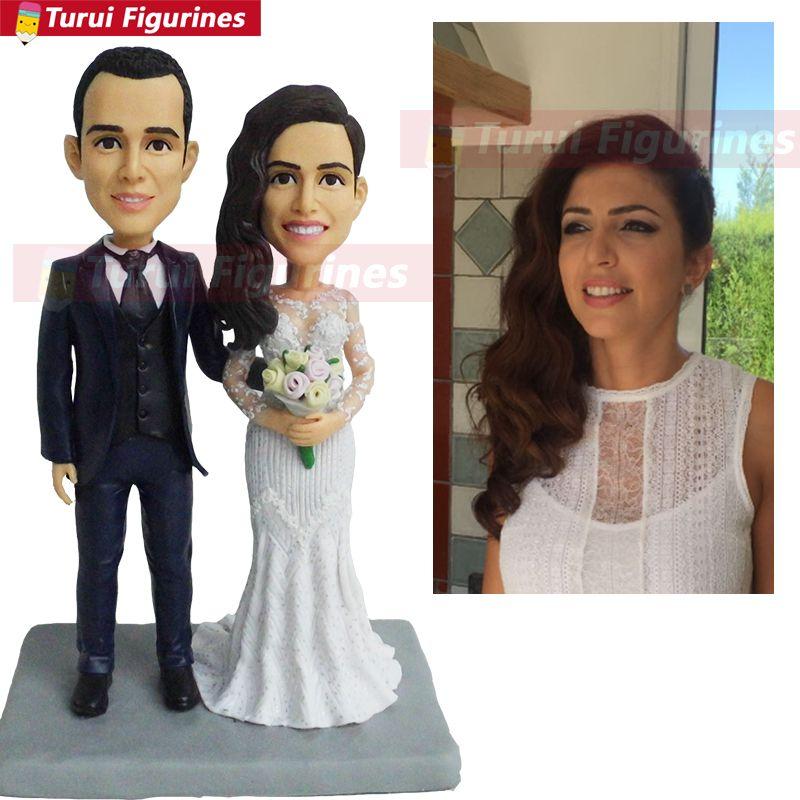 Wedding Cake Topper Jeep Joke Bride Groom Figurine Couple Figure