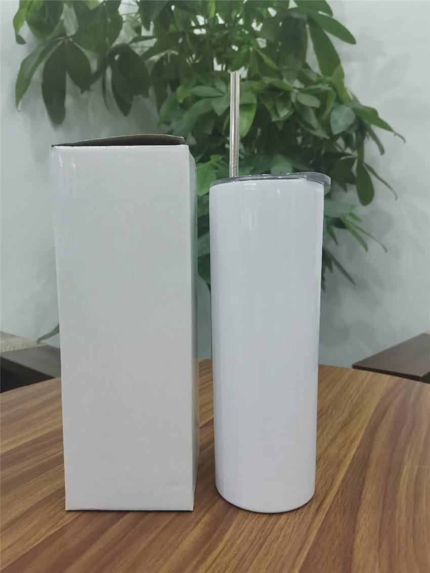 Sublimation 20 Unzen Edelstahl Tumbler Thermotransfer-dünner Tumblers Sublimation Tumbler Doppelwand-Vakuum-Kaffeetasse A02