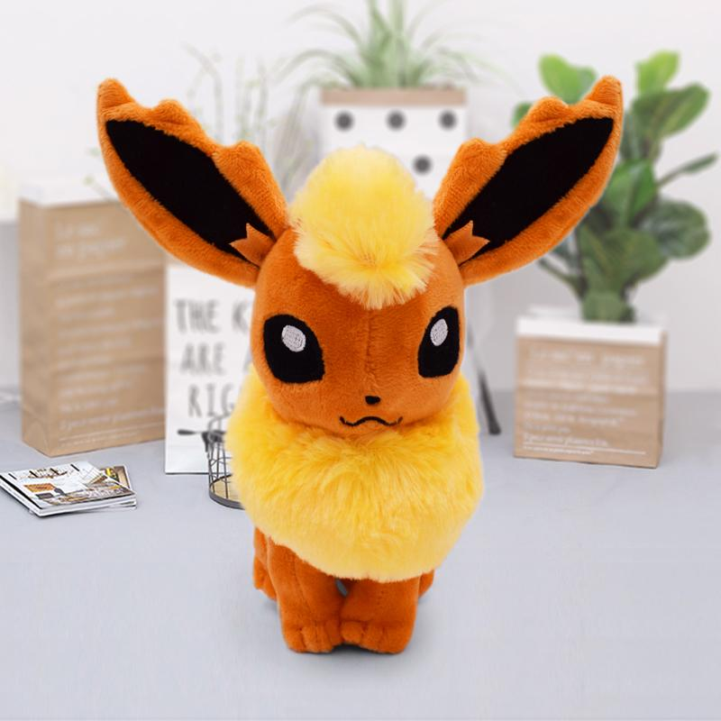New Flareon Sitting Pose Peluche Doll Anime Figure Plush Brinquedos Kids Toys Gift Juguetes 18-21cm Baby Toy Free Shipping Y200703
