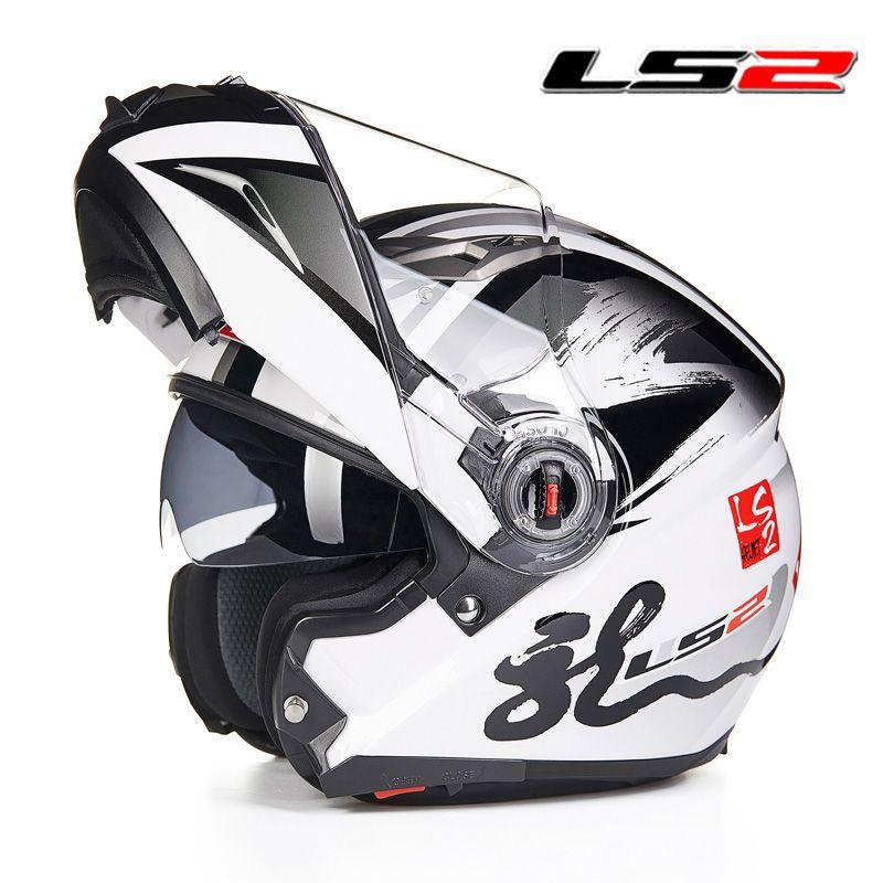 LS2 FF370 Modular capacete Da Motocicleta rosto cheio de corrida de moto capacete com viseira de sol interior Mulheres homem flip up capacetes de moto ECE