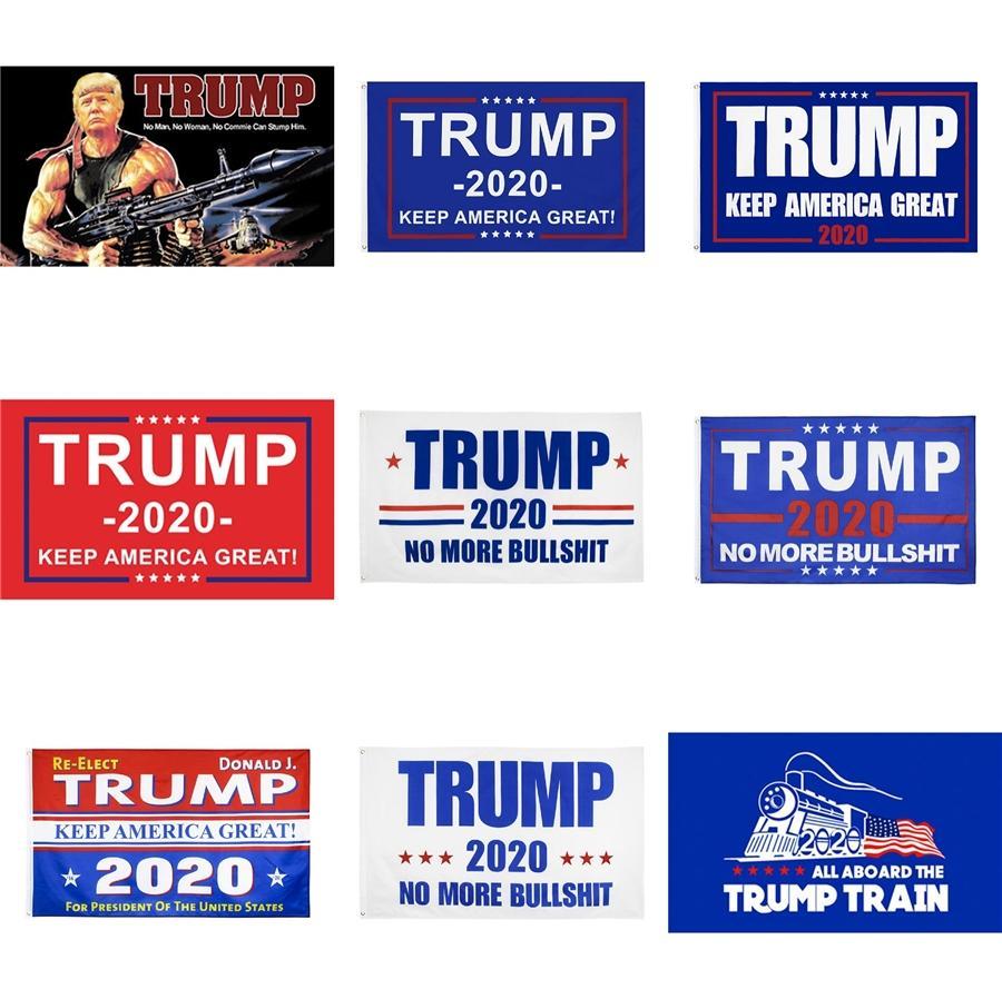 Donald Trump Bandeira 150 * 90cm Impressão Digital Trump Tanque Donald 2020 Keep America Grande bandeira da bandeira Fast Ship # 641