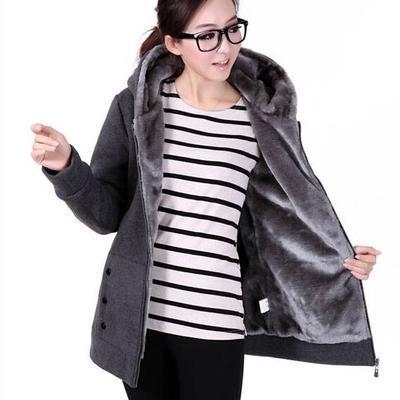 Otoño mujeres camiseta de algodón mixto postal -Up cremallera completa Solid envuelva con capucha casuales de los Hoodies más nuevo más el tamaño M-4XL