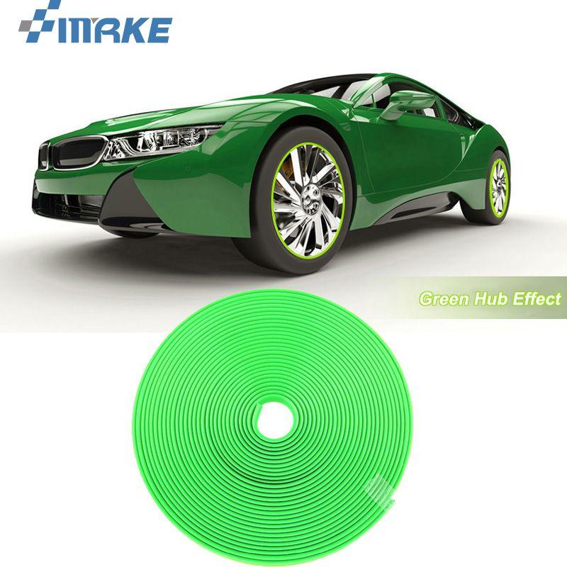 8M Колесо Автомобиля Ступица Обода Края Защитное Кольцо Шины Газа Гвардии Резиновые Наклейки На Автомобилях Зеленый Автомобиль Стайлинг