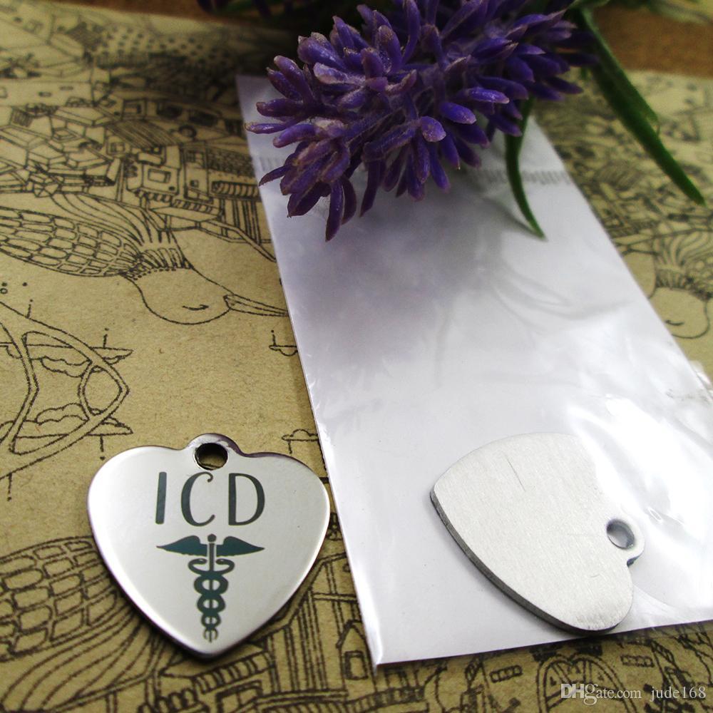 """40pcs - kolye için DIY Charms kolye seçtiğiniz için """"ICD Caduceus Tıp"""" paslanmaz çelik takılar daha şık"""