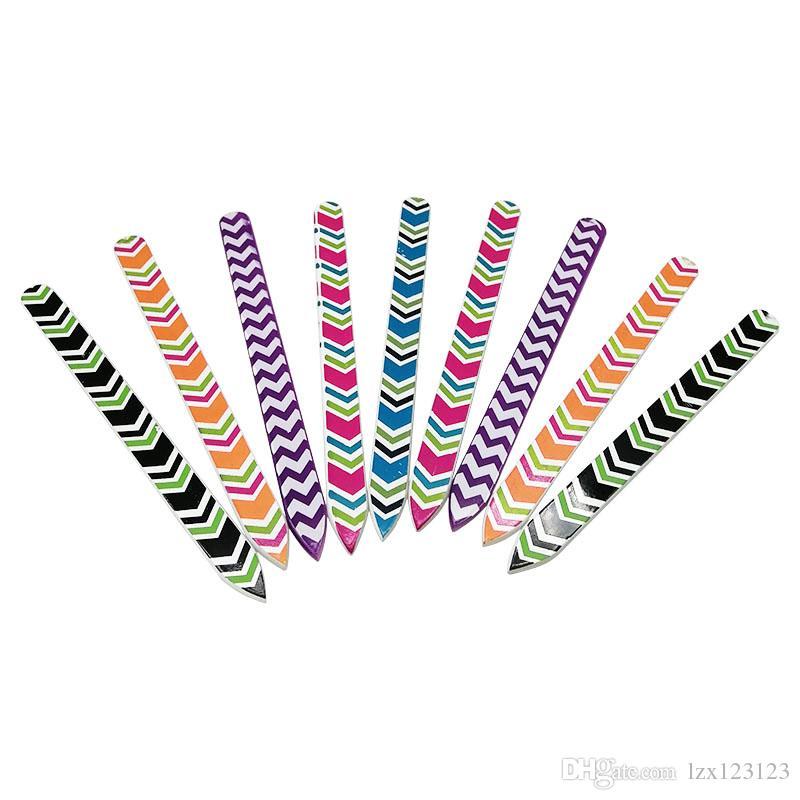 10pcs en verre lime à ongles en verre avec un seul côté longue durée durable cristal outils durables pour la nature ongles