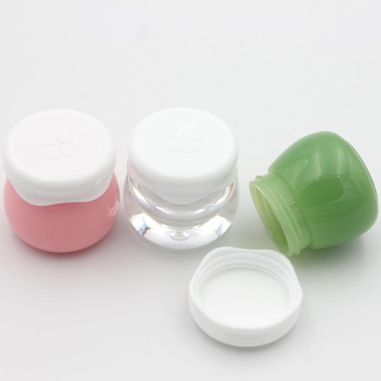 مستحضرات التجميل الصغيرة البسيطة جرة 10G وردي أخضر حاويات من البلاستيك لمستحضرات التجميل جرة حزمة ماكياج فارغة كريم جرة