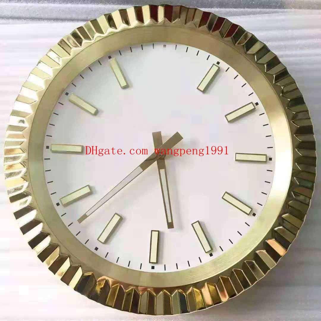 4 색 고품질 브랜드 벽시계 가정용 18K 골드 126333 126334 날짜없이 벽시계 34CM는 5CM 3KG 석영 전자 시계 X