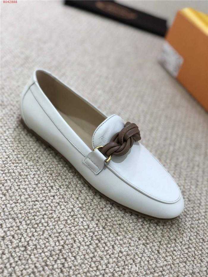 2019 Womens casual shoes for autumn and winter,Inner and outer layer all cowhide fabric soft comfortable leisure single shoes