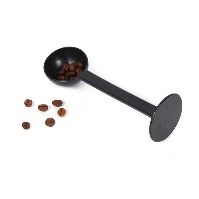 2 В 1 10г Измерение Tamping совок кофе тампера черный эспрессо Стенд кофе Ложка кофе Чайные инструменты