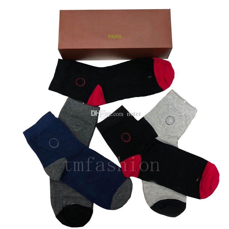 100% algodón Diseño Los hombres calcetines calidad de la manera de la nueva vendimia absorber el sudor transpirable hombre de Media Longitud pares ocasionales de deportes para hombre calcetines