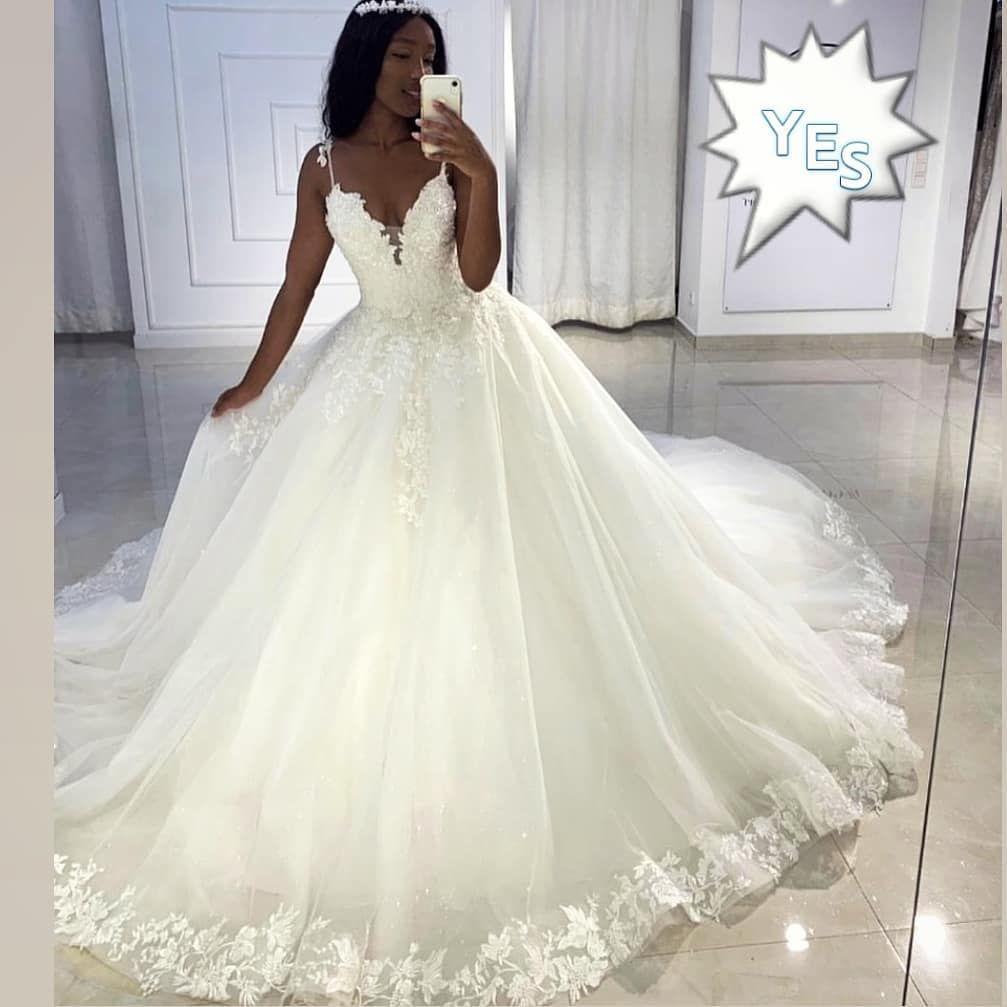 2020 Modern Princess Ball Gown Lace Wedding Dresses Appliques Sequined Beaded Plus Size Vestido De Novia Gelinlik Trouwjurk Bridal Gowns