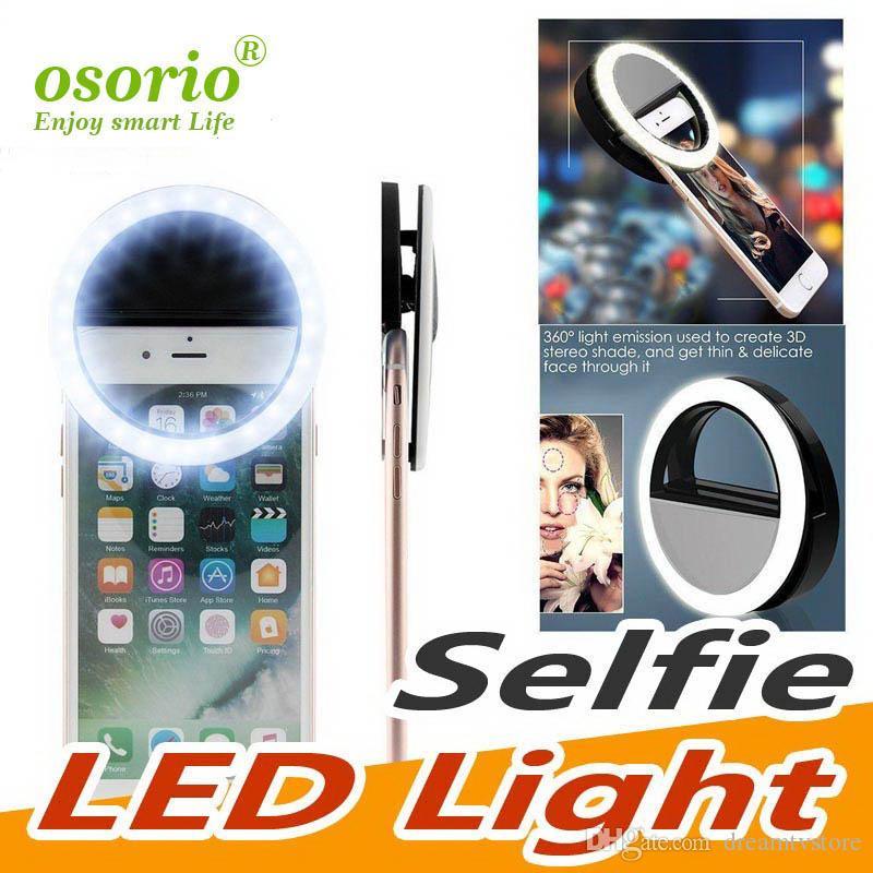2019 Fabricant de charge Flash LED Beauté Fill selfie lampe extérieure selfie Annulaire rechargeable pour tous téléphone cellulaire gros