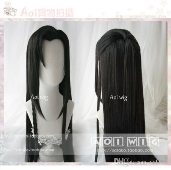 Anime Tian Guan Ci Fu Hua Cheng Peruk Erkek Uzun Saç postiş Cosplay Peruk ilgili ayrıntılar