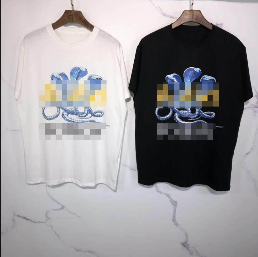 20SS Luxury Designer T-shirt des femmes des hommes Marque T-shirt imprimé Cobra T-shirts à manches courtes Mode Streetwear Designer Tee Hoodie zx 20042507L