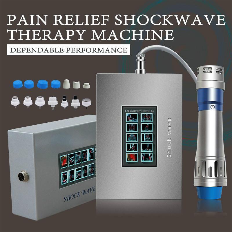 Yüksek Kaliteli Shockwave Terapi Makine Vücut Ağrı Kesici Dokunmatik Ekran ED Tedavi Vücut Masaj Sağlık Cihaz CE Relax