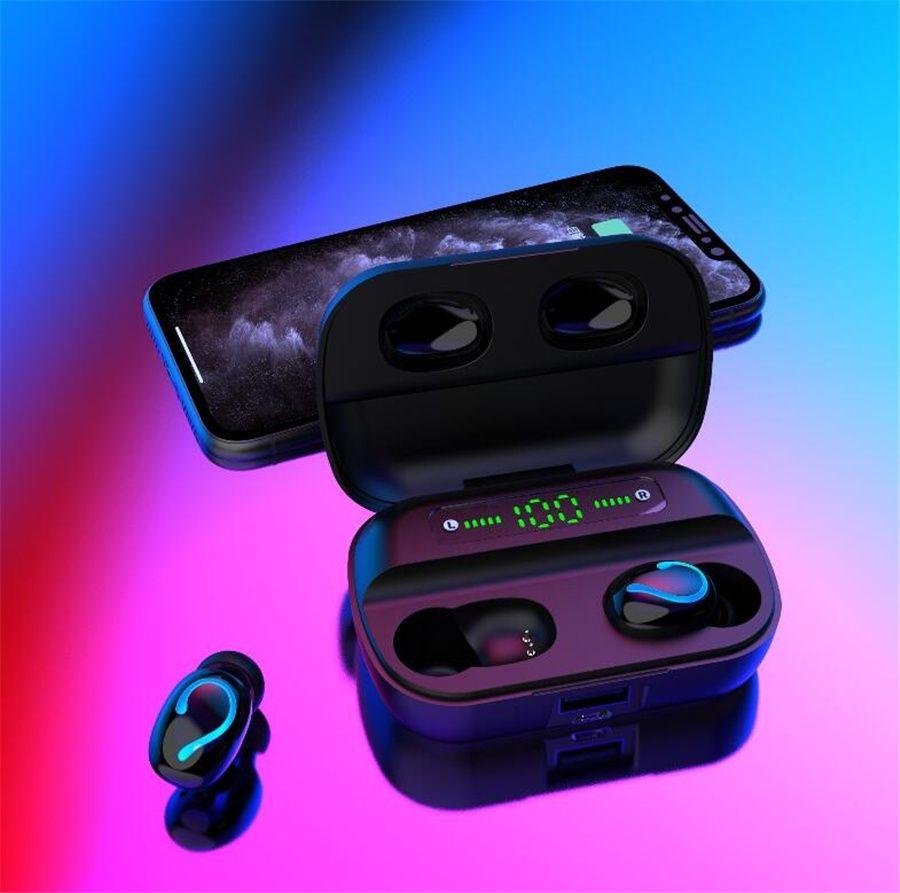 F9-10 Tws Bluetooth 5.0 Kopfhörer Funkkopfhörer mit Mikrofon Tws Sports Wasserdichte Kopfhörer Mini Earbuds für Android 2000Mah # OU898