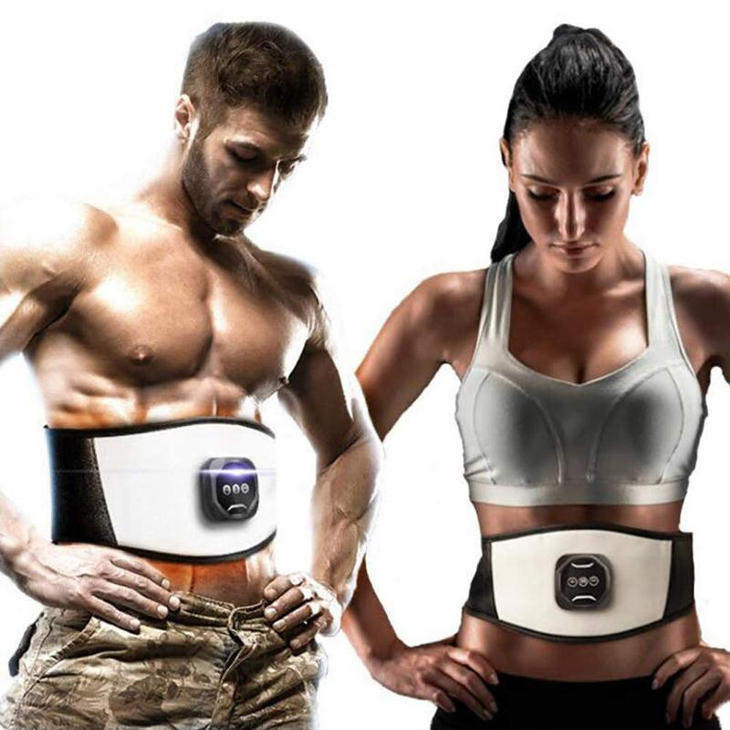EMS 복부 슬리밍 조정 PU 벨트 전자는 근육 자극기 토닝 허리 트레이너 손실 무게 지방 바디 마사지 ABS