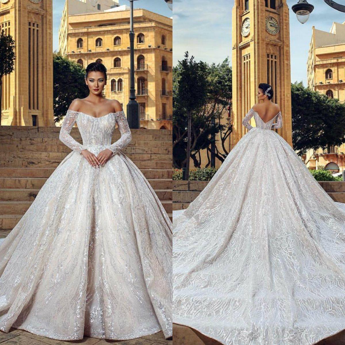 Discount18 Dubai Arabic Vintage Wedding Dresses Said Mhamad Long ...