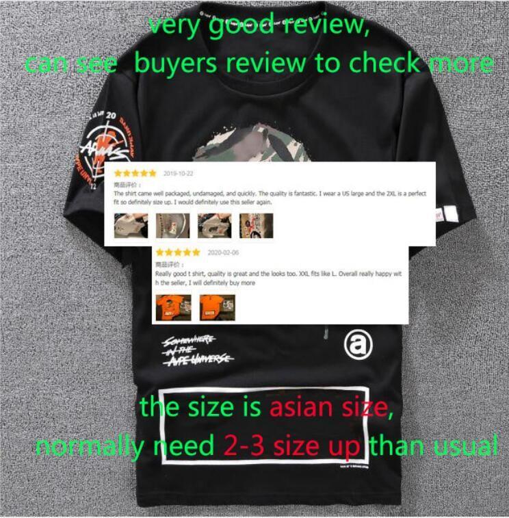 Повседневная футболка Мужская одежда конструктора рубашки Черный Белый Оранжевый Размер S-XXL Бленда хлопка шеи экипажа с коротким рукавом мультфильм печати