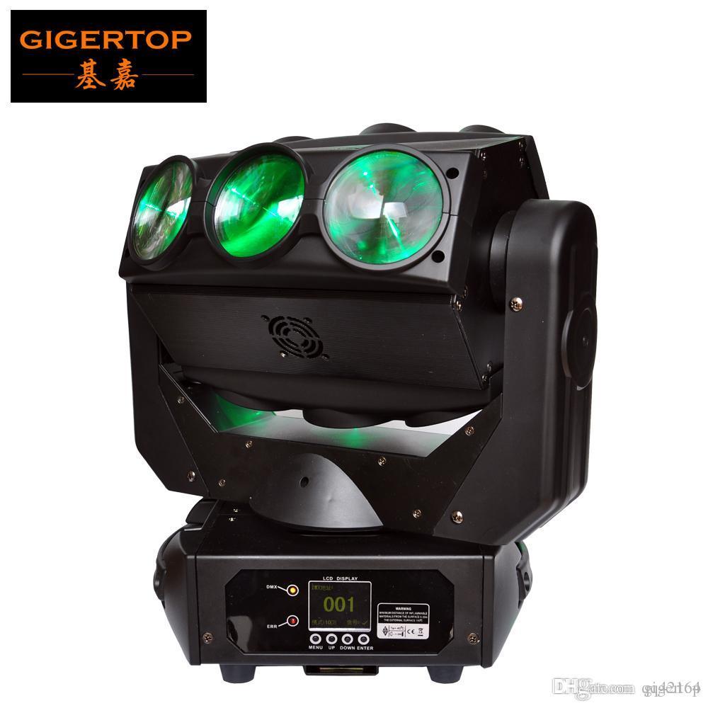 TIPTOP TP-L676 9X12W LED Araignée Moving Head Light RGBW DMX 512 4en1 scène Disco éclairage Backdrop faisceau d'éclairage linéaire Dimmer