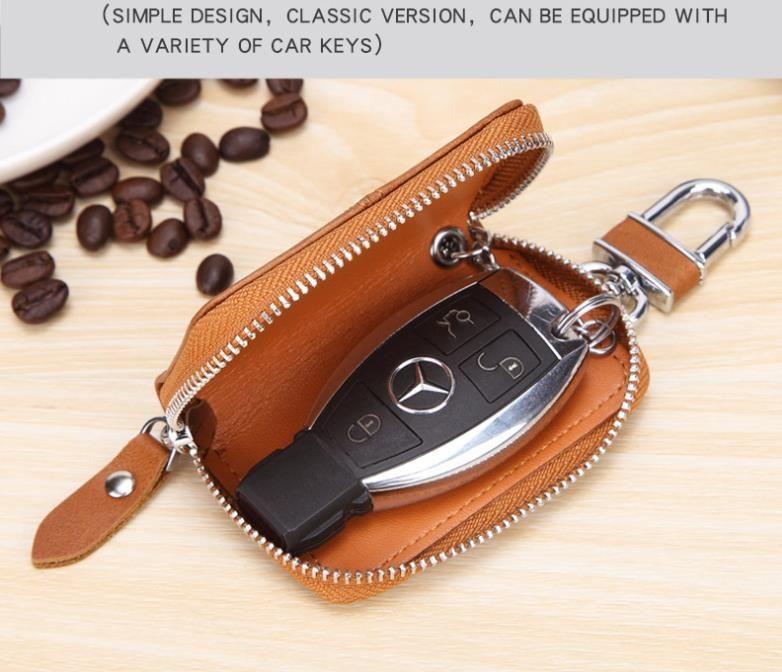 الجلود مفتاح السيارة محافظ الرجال مفاتيح حامل مدبرة منظم النساء المفاتيح يغطي سستة مفتاح القضية حقيبة للجنسين الحقيبة محفظة