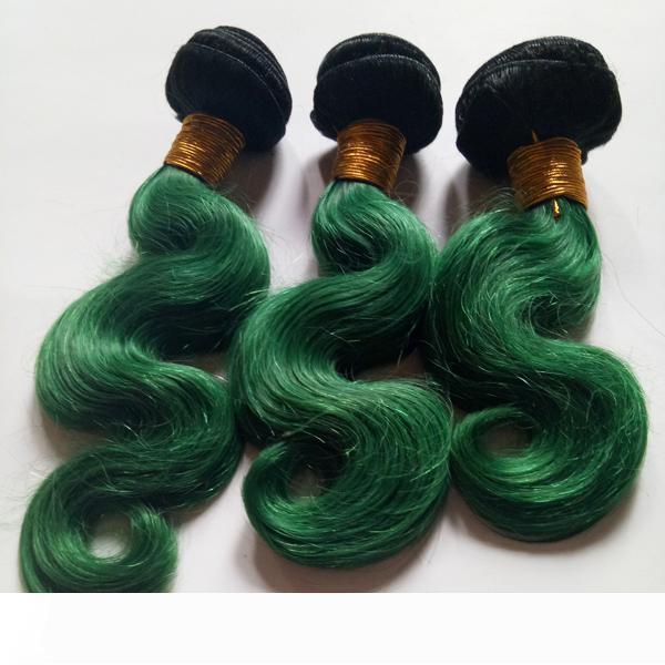 A غير المجهزة 8-28inch موجة عذراء البرازيلي 3bundles شعر الجسم أومبير التمديد نسج لحمة 1B مثير الخضراء طبقتي الصينية الإنسان الشعر