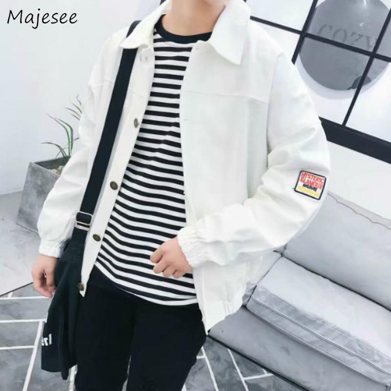 Hommes Vestes Imprimé Ins Style Coréen Loisirs en vrac de grande taille 3XL Oversize Harajuku Hip-hop Hommes Ados Tout match New Chic Trendy