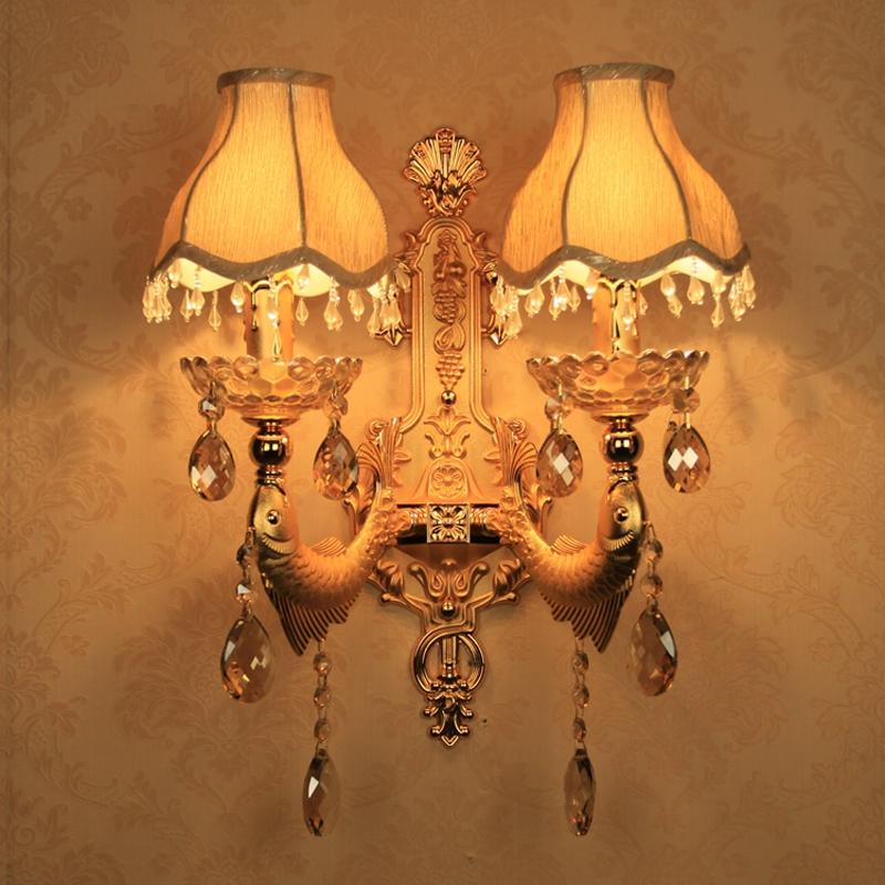 Gold Wall Sconce Decoration Vintage Crystal Wall Light Surface Mounted Crystal Lamp for Bedroom Lights Sconce Bathroom Lamp