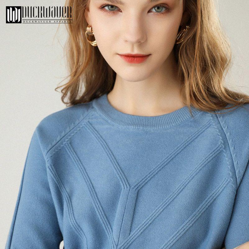 Estilo Autumn Thoshine Marca Primavera Mulheres malha suéteres de cashmere gola redonda cor sólida fino fêmea Pullovers Jumpers Escritório