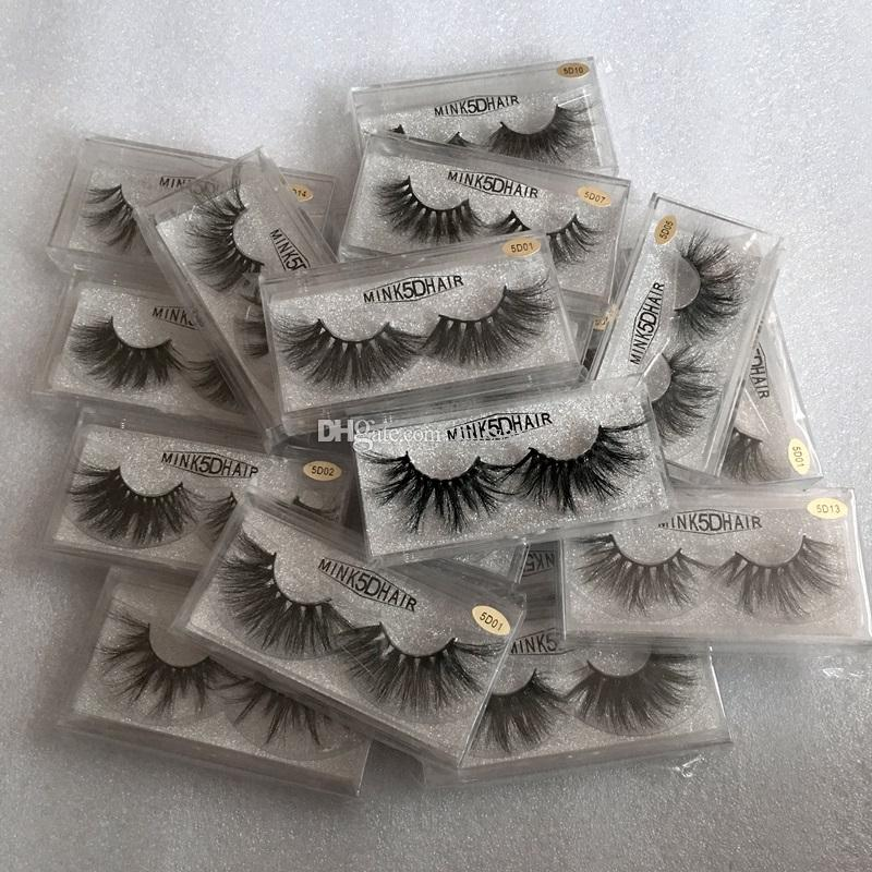 NEW Mink False Eyelashes 5D Mink Eyelashes 25mm Natural Long 100% Real Mink Lashes High Volume Fluffy Eyelash Makeup Tool