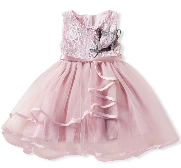 Novas meninas saia meninas natal princesa vestido sem mangas bud vestido de gaze de seda