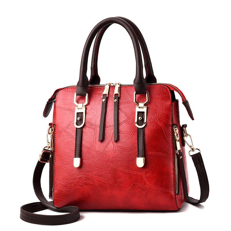 Borse da donna Borsa da donna di alta qualità Borsa da donna di moda patchwork Designer Grande borsa da donna in pelle PU Tote Regali vintage cintura