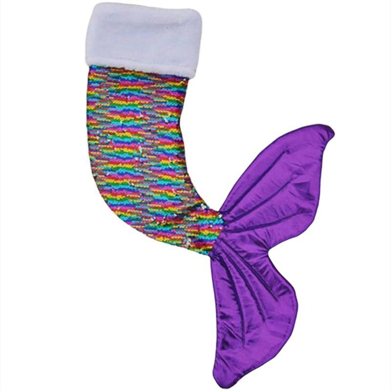 1pcs Sequins Noel çorap kolye yılbaşı ağacı süsleme kolye Figürinleri Süsler Denizkızı Payetler Çorap Rulo Boncuk