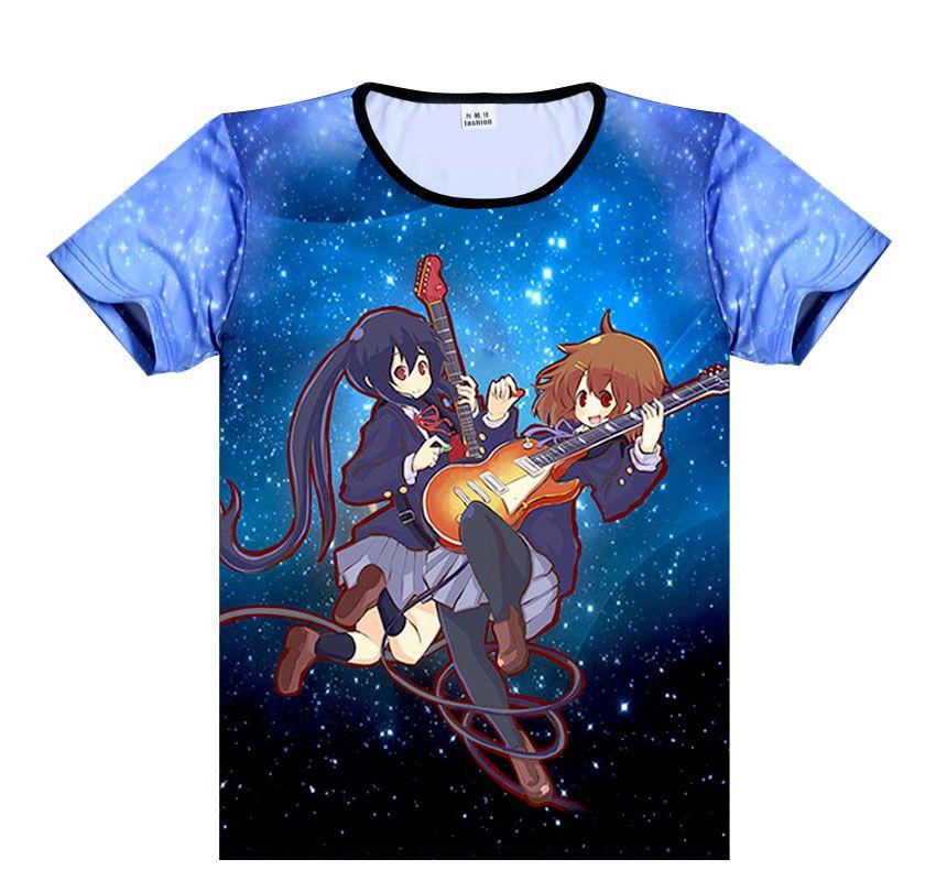 New Japan Anime Cos K-on Mio Akiyama Cotton Short Sleeve Casual T-Shirt
