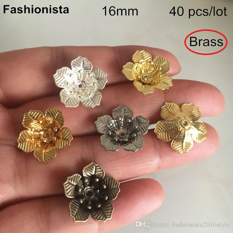 Wholesale 7mm12mm filigree flower dome bead caps gold plated brass bead caps jewelry making supplies
