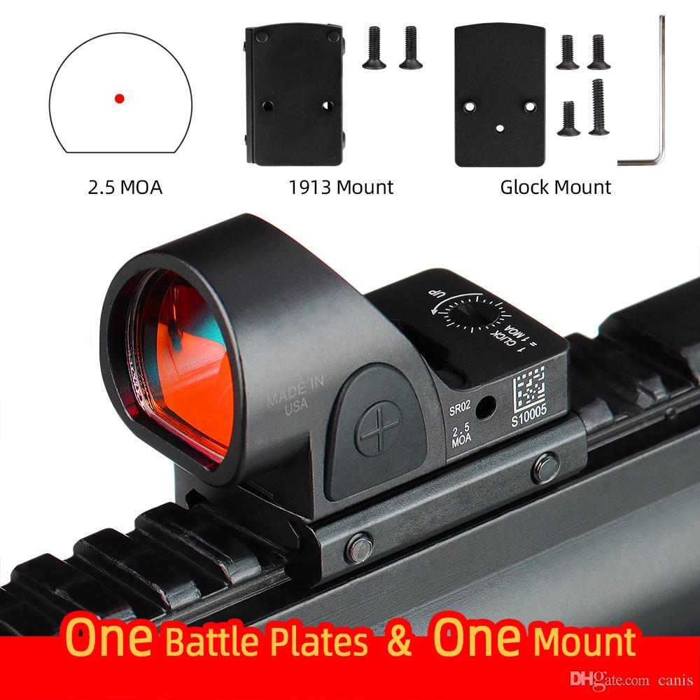 SRO مصغرة RMR الأحمر نقطة البصر 2.5 موا البصرية المنعكس البصر نطاق الموليم يناسب 20 ملليمتر ويفر السكك الحديدية الصيد بندقية الادسنس CL2-0130
