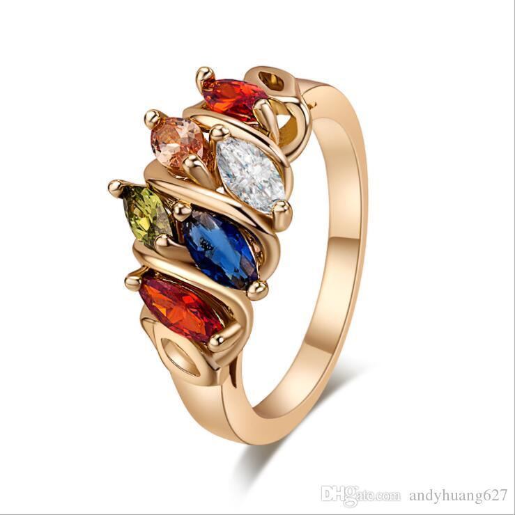 Gold rings for women Online shop china wholesale Fashion Engagement Rings For Women Bridal Diamond Wedding Ring