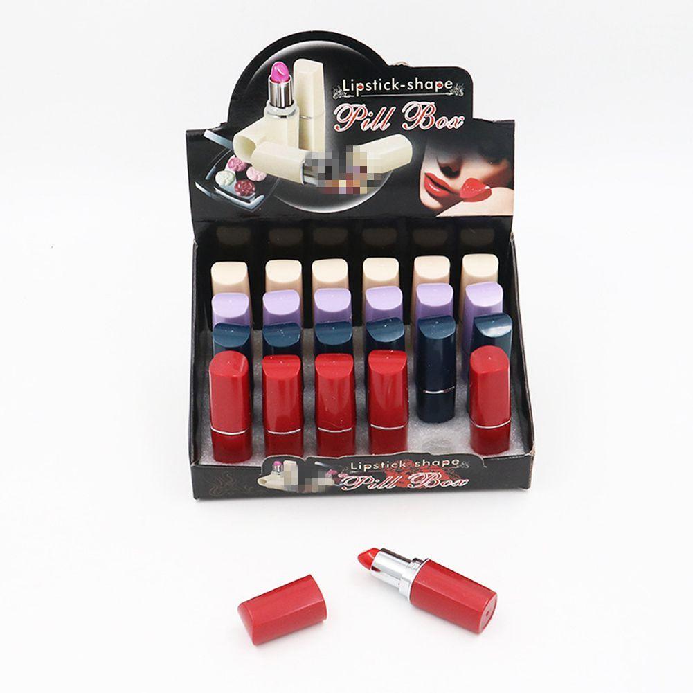 Rouge à lèvres en forme de conteneurs vide Pill Stash cas Hookah pour pipe cas Dabs Rigs de bijoux Bins Plastic Container Box 7.5 * 1.8cm