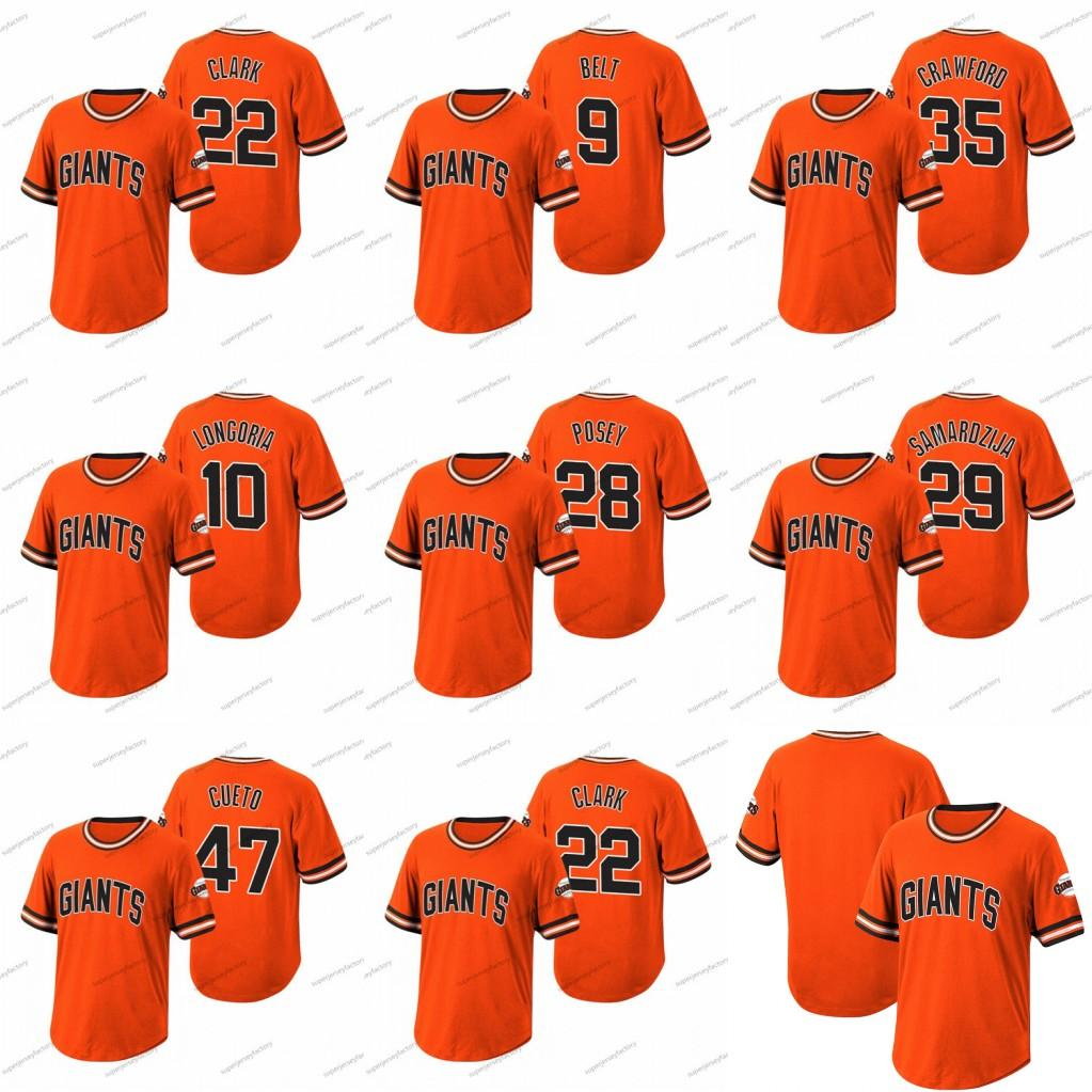28 Buster Posey Wild Pitch Jersey Belt Crawford Evan Longoria Jeff Samardzija Johnny Cueto Will Clark Baseball jerseys