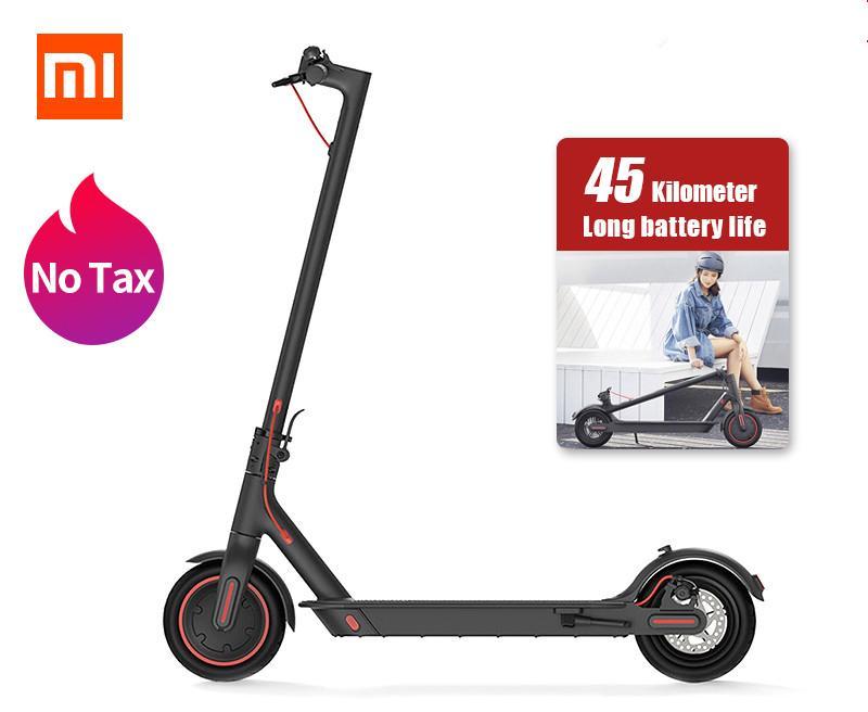 Xiaomi mijia m365 pro Scooter électrique Smart e scooter Skooter planche à roulettes Hoverboard Longboard 2 roues Patineau adulte 45km batterie