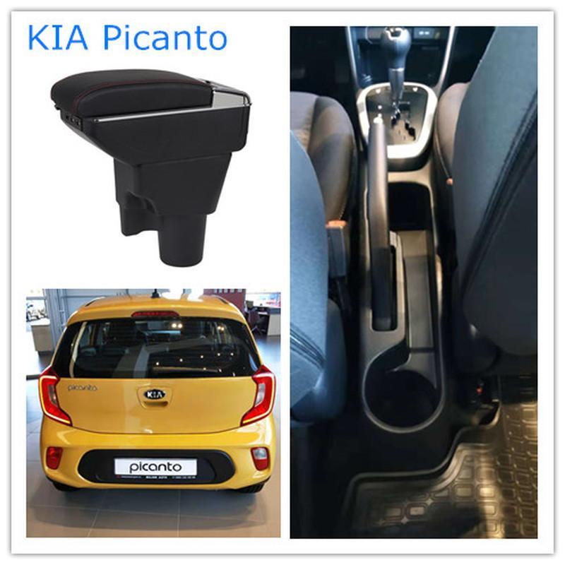 Kia Picanto apoyabrazos cuadro de contenido de la caja central de tienda con productos portavasos interiores de accesorios de coches-styling