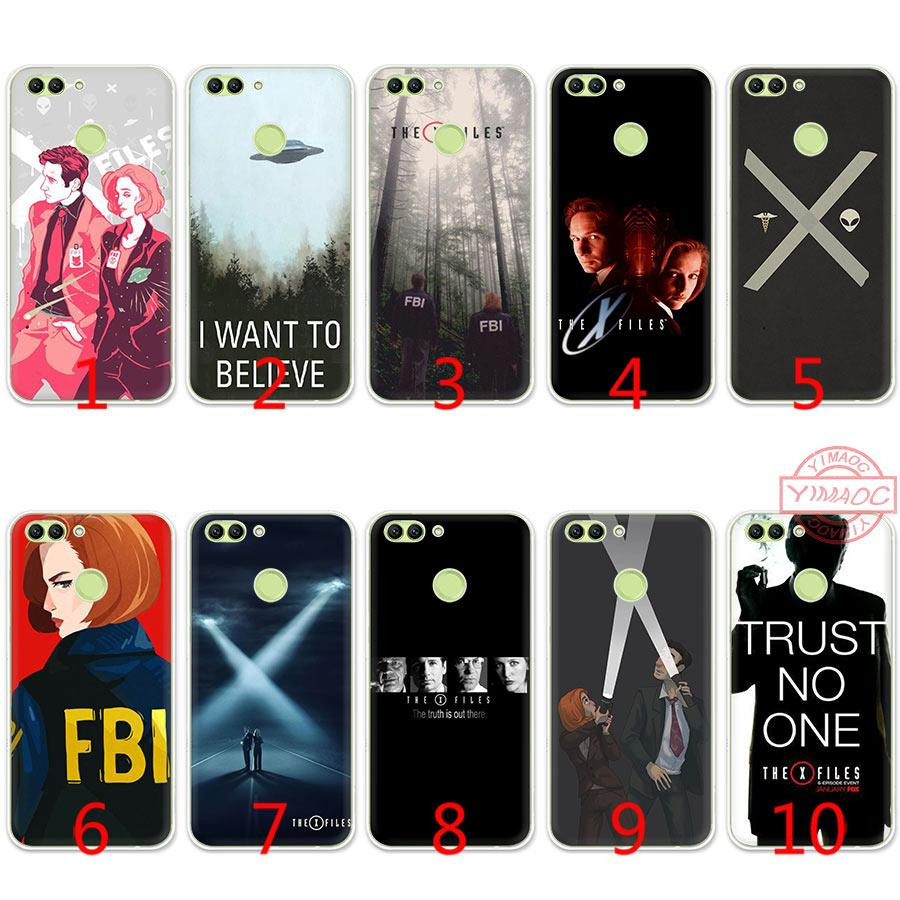 The X Files I want to believe Soft Silicone TPU Case for Huawei Honor 7A 2GB Pro 7C 7X 8 9 10 Lite Cover