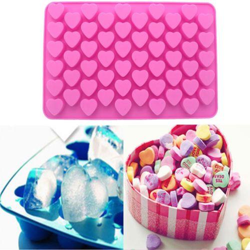 Şeker Çikolata Kek Kalıp Dekorasyon Pişirme Aracı Mini DIY Mutfak Kalıp 55hole Kalp Şekli Silikon Kalıp