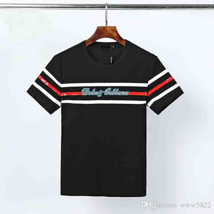 de verano de lujo camiseta blanco y negro de la camisa de lujo los hombres y mujeres de manga corta camiseta unisex de hip-hop del tamaño de la camiseta M-3XL