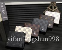 Freies Verschiffen 2020 Männer echtes Leder-Brieftasche beiläufige kurze Männer Kartenhalter Tasche Mode-Geldbeutel-Mappen für Männer kein Kasten yiA016