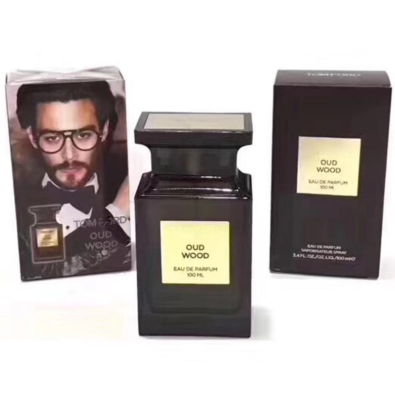 Герметичный Бренди Духи Oud Wood Men Fragrance Супер пахнут Мужскую Cologne SprayEau De Парфюм 100ML