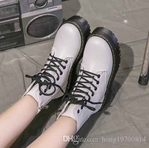 Moda cuña talón botines locomotora para plataforma de los zapatos de las mujeres punk gótico 2020 tamaño de otoño del resorte Chunky Botas Mujer 35-40