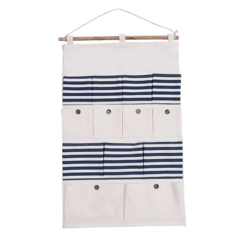 13 il sacchetto della tasca sacchetto appeso a parete di cotone impermeabile naturali Rivestimenti Storage Bag grande porta Organizzatore per la casa Cucina Bagno Decor
