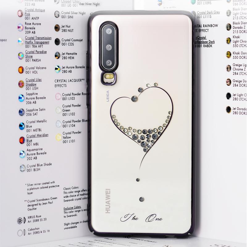 Cristales de Swarovski al por mayor del corazón cubierta del caso para Huawei P30 Coque Protección de lujo cajas del teléfono de Huawei P30 Pro Funda Moda