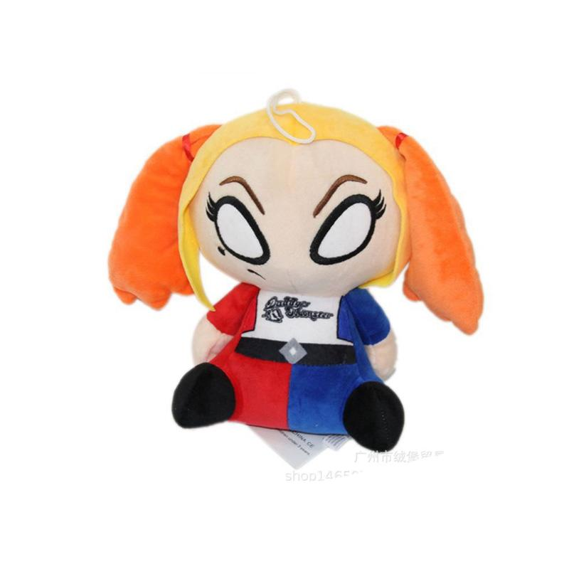 1 PC 20CM Suicide Squad Harley Quinn Soft Plush Toy Cartoon Action Figure toys